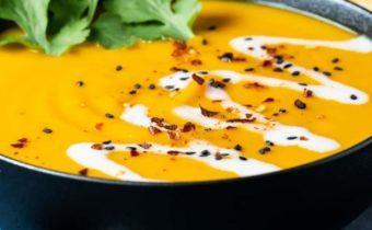 Тайский суп с кокосовым молоком и бататом