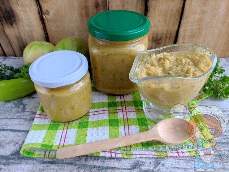 Аджика из зеленых помидор - рецепт на зиму