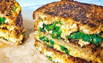 Горячий бутерброд с тофу